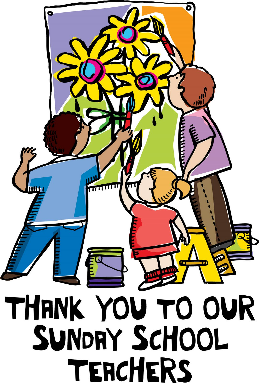 Clipart for parents and teacher for sunday school event.