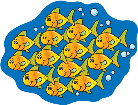 School of fish clipart 7 » Clipart Station.