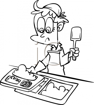 School Food Clipart Black And White.