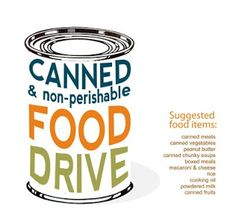 School Can Food Drive Clipart.