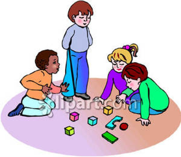 School Free Play Time Clipart.