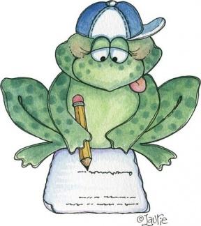 School Frog Clipart.