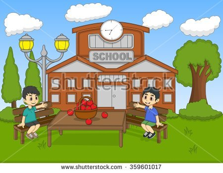 School Garden Stock Vectors, Images & Vector Art.