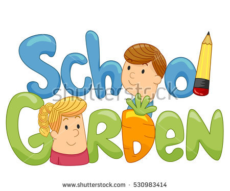 School Garden Stock Images, Royalty.
