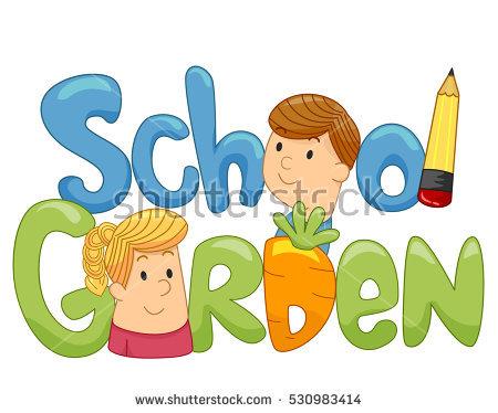School Garden Stock Images, Royalty.