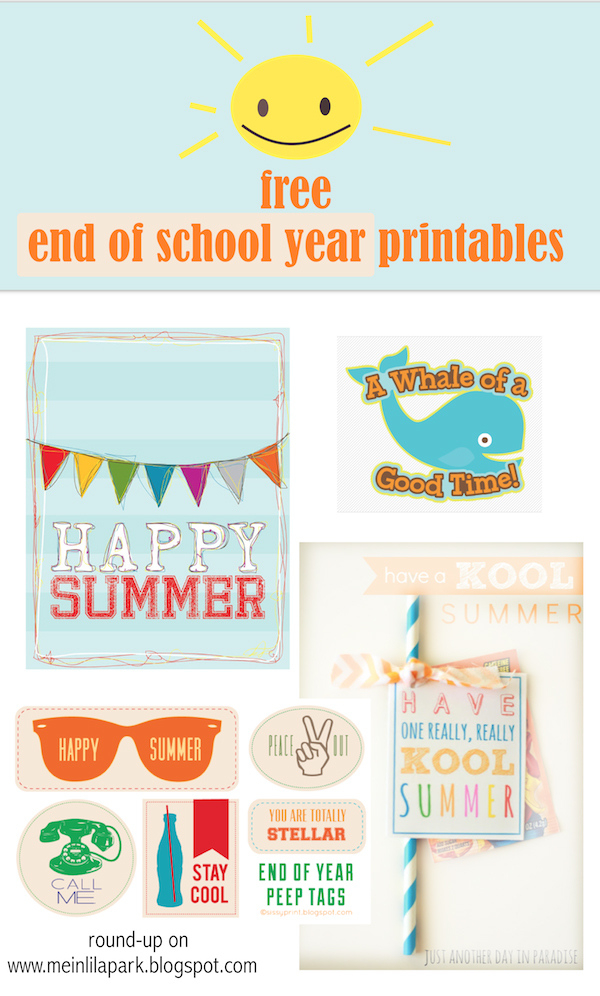 FREE printable happy summer gift tags.