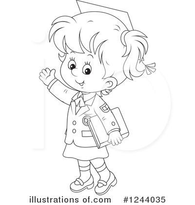 School Girl Clipart #1244035.
