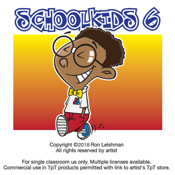School Kids Cartoon Clipart Vol. 6.
