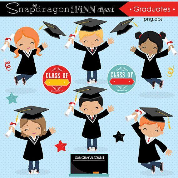 Graduation clipart Grad clipart End of School Graduation.