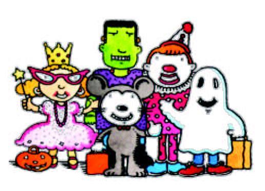 School Halloween Parade Clipart.