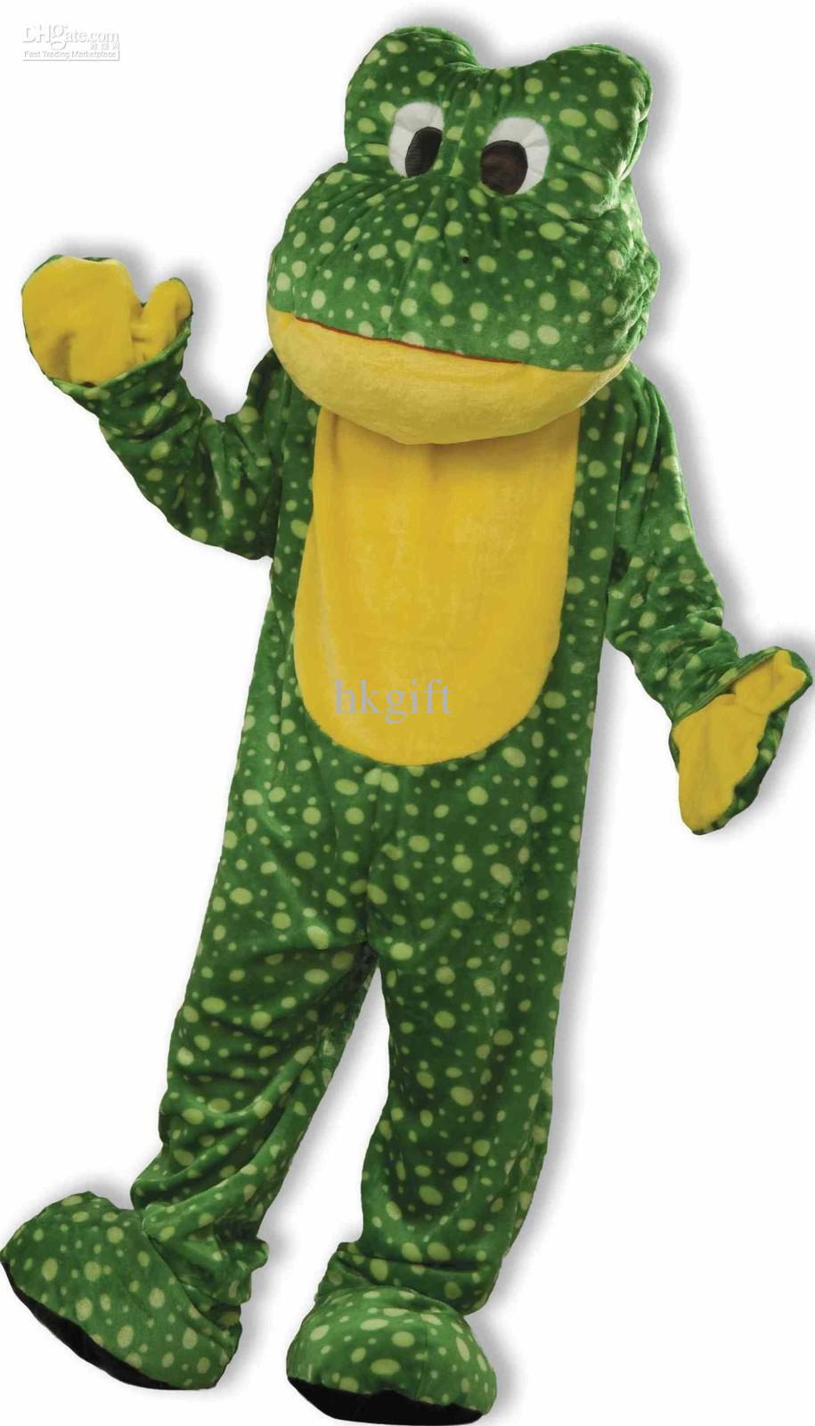 Green Frog Mascot Costume Adults Halloween Party Cartoon School.