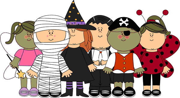 Halloween parade clipart.