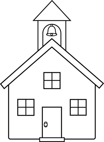 School house clipart simple.