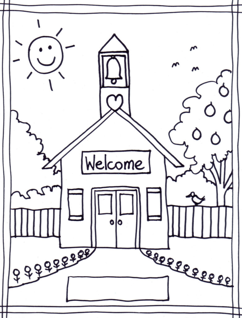 Welcome back to school schoolhouse clipart clipartfest.