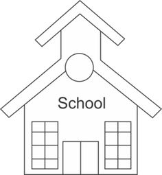 School Supplies Clipart Black.