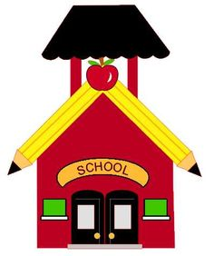 101+ Clip Art School House.