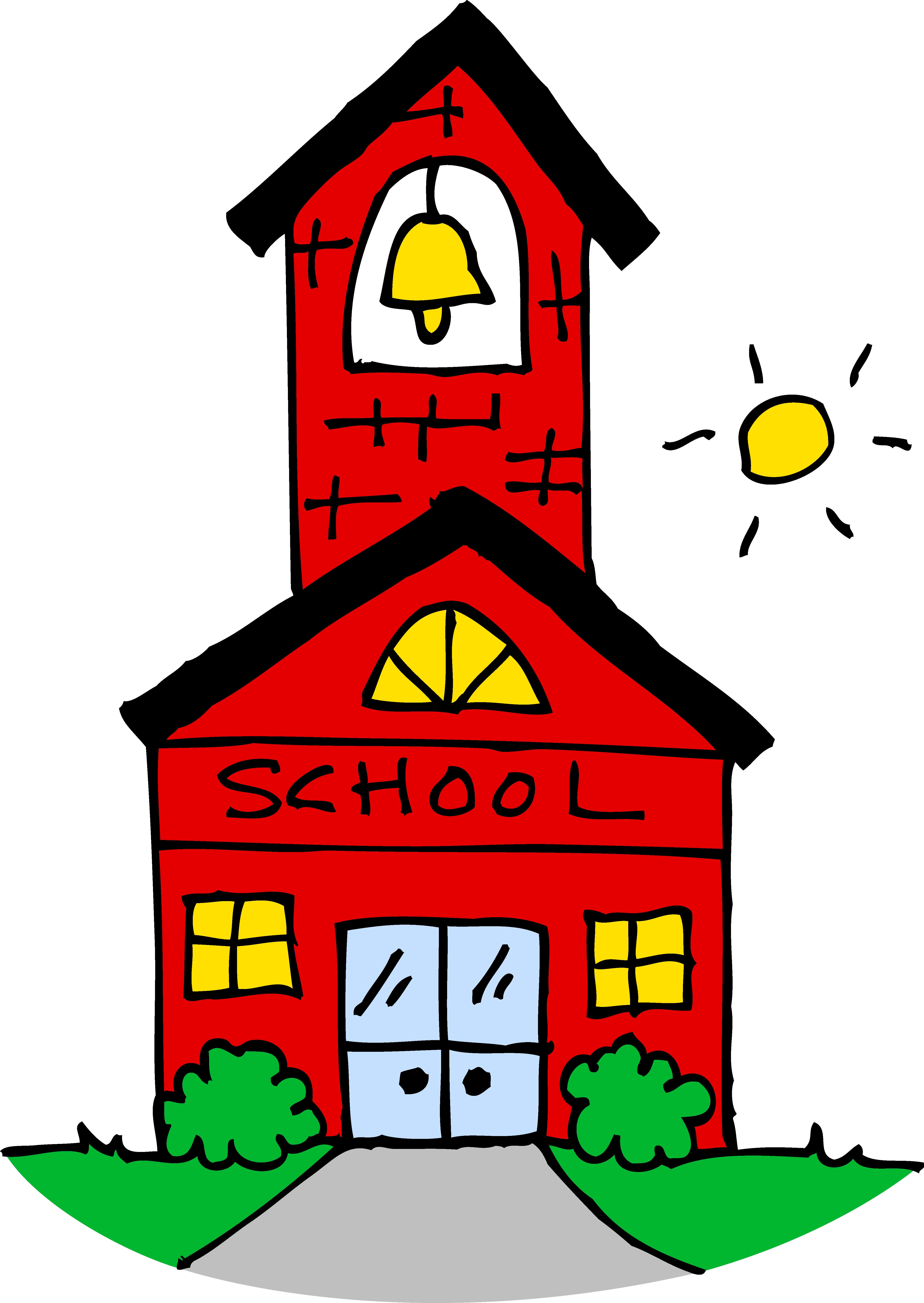 Cute School House Clipart.