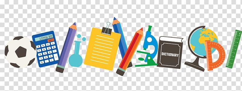School supplies, School material, school supply transparent.