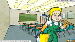 Janitor clipart in school, Janitor in school Transparent.