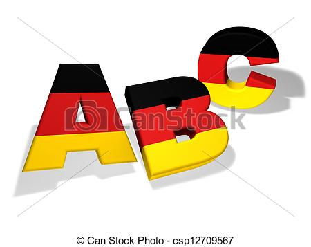 Stock Illustration of Abc German School Concept.