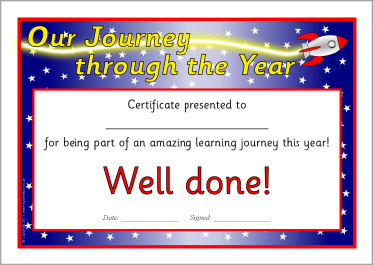 printable school end of year leavers certificates for primary ks1