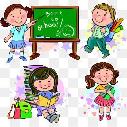 Cartoon Students Back To School Design Life, Cartoon Student.