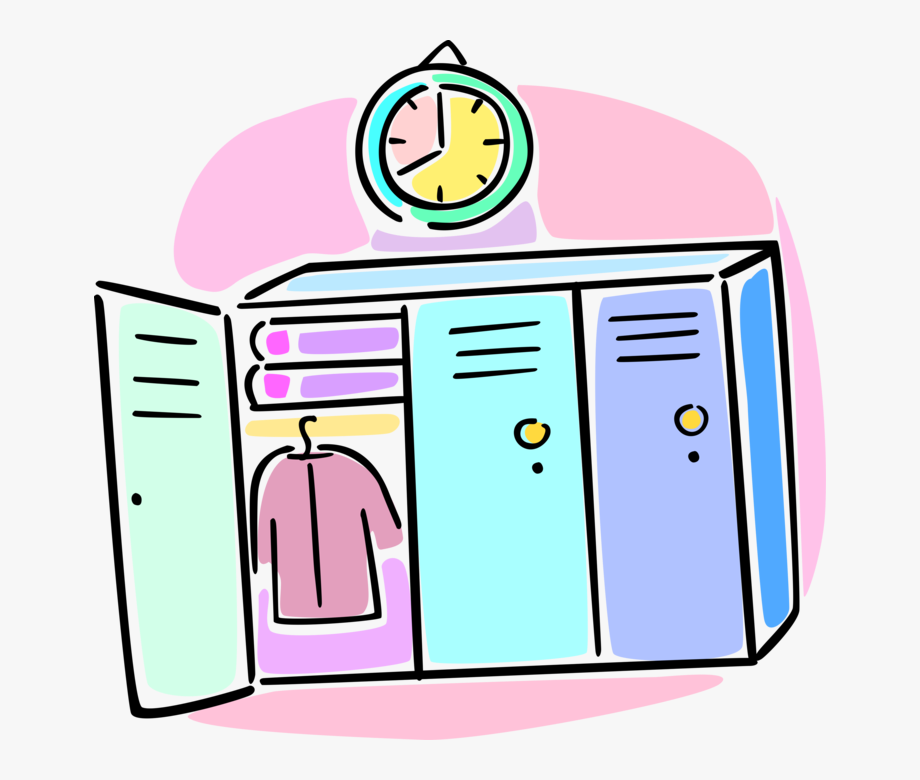 Image Royalty Free Lockers Store Books Vector.