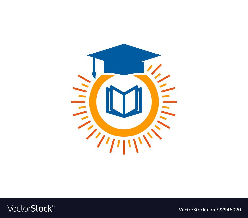 School sun logo icon design.