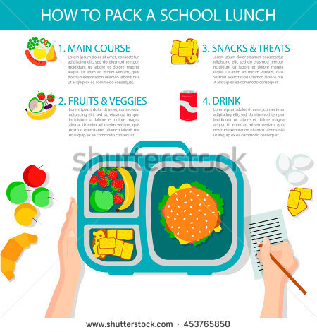 School Lunch Stock Images, Royalty.
