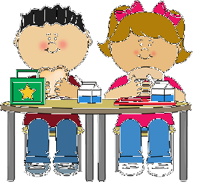 School lunch table clipart.