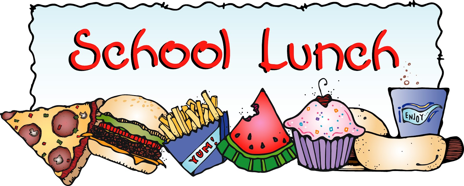 School Lunch Tray Clipart.