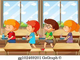 School Cafeteria Clip Art.