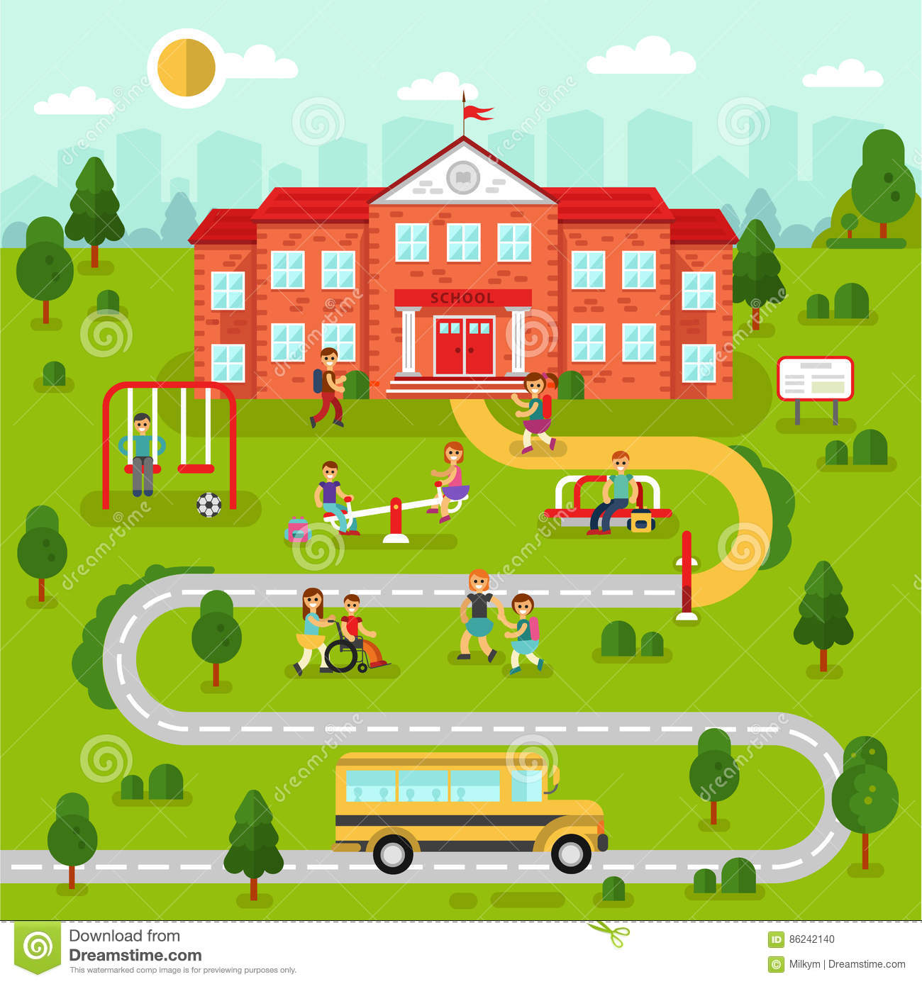School map clipart 1 » Clipart Station.