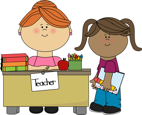 Teacher Helping Student Clipart.