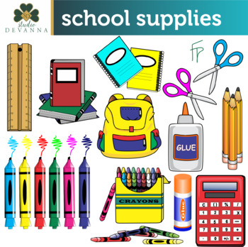 Free School Supplies Clip Art.