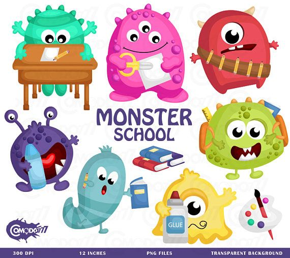 Monster School Clipart, Monster School Clip Art, Monster.