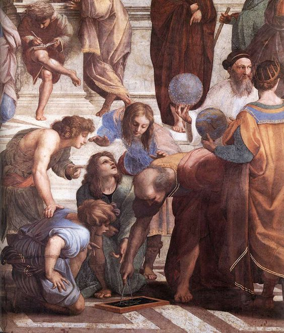 This is a painting by Raphael that depicts The School of Athens.