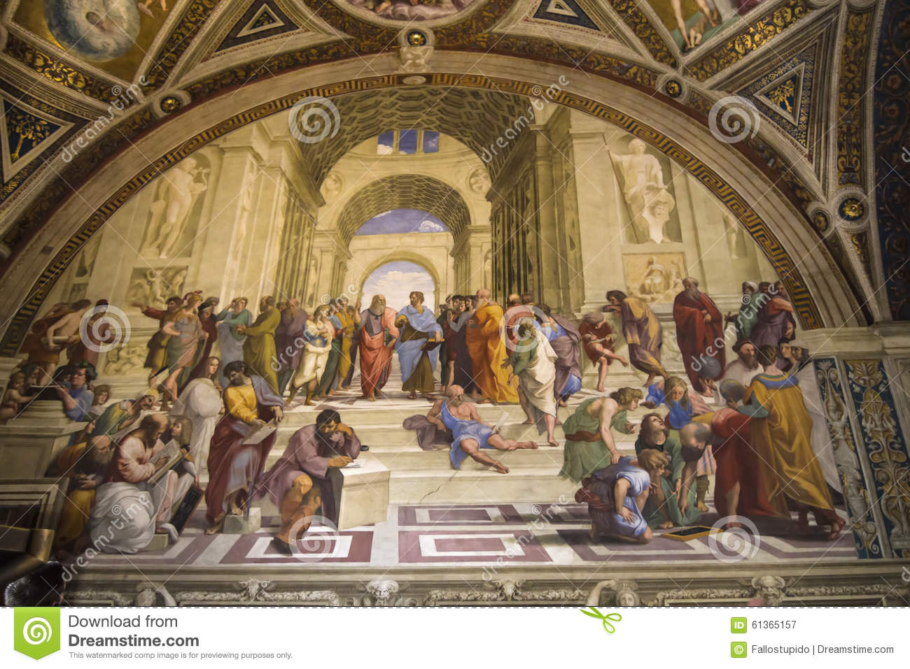 The School Of Athens Fresco Editorial Photo.
