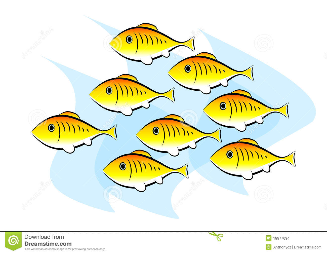 School of fish clipart 2 » Clipart Station.