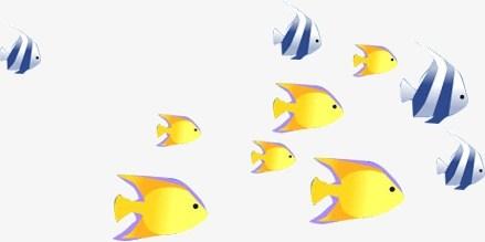 school of fish clipart #3