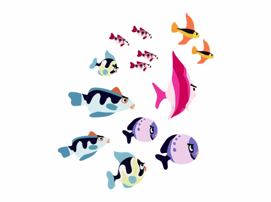 Clip Freeuse Library School Of Fish Clipart School.