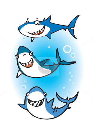 Happy Shark Clip Art.