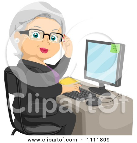 Showing post & media for Cartoon female office assistant.