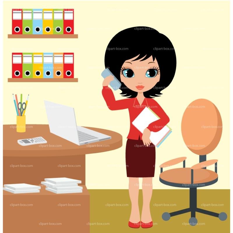 School Office Ladies Clipart.