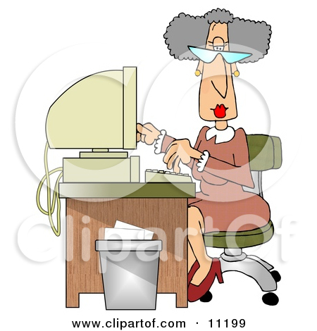 Showing post & media for Old office lady cartoon.