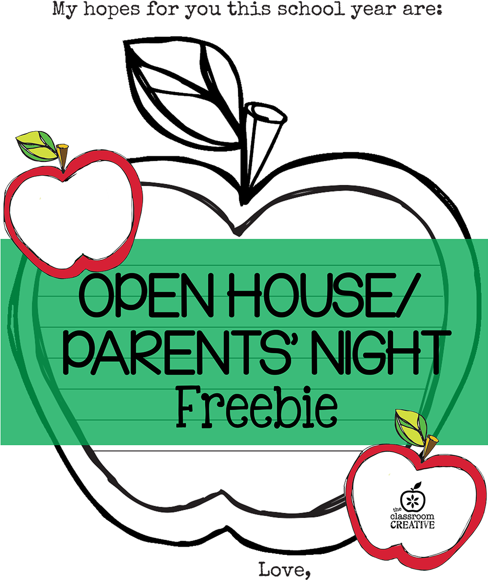 Free Open House/ Parent\'s Night Printable {apple Themed.