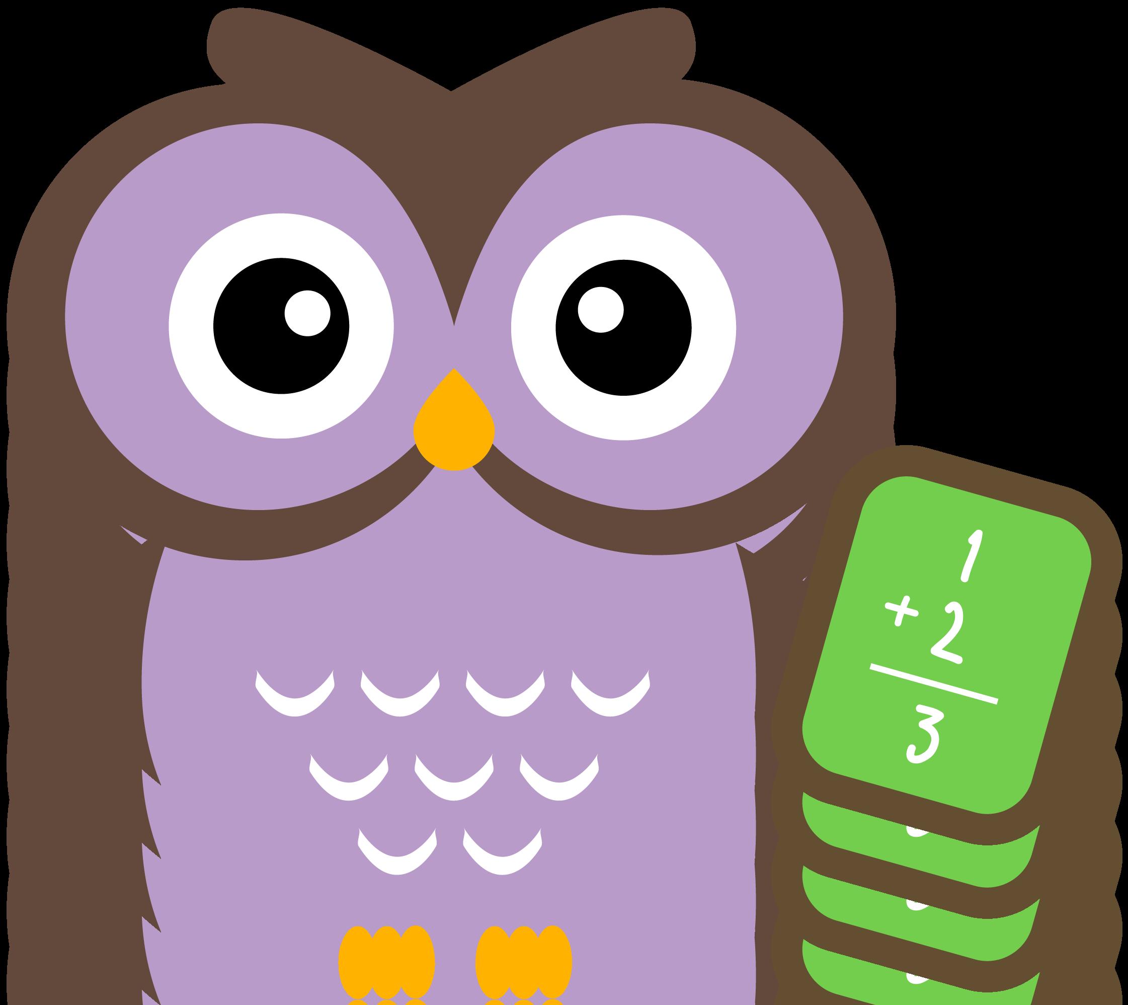 School Owl Clipart Math.