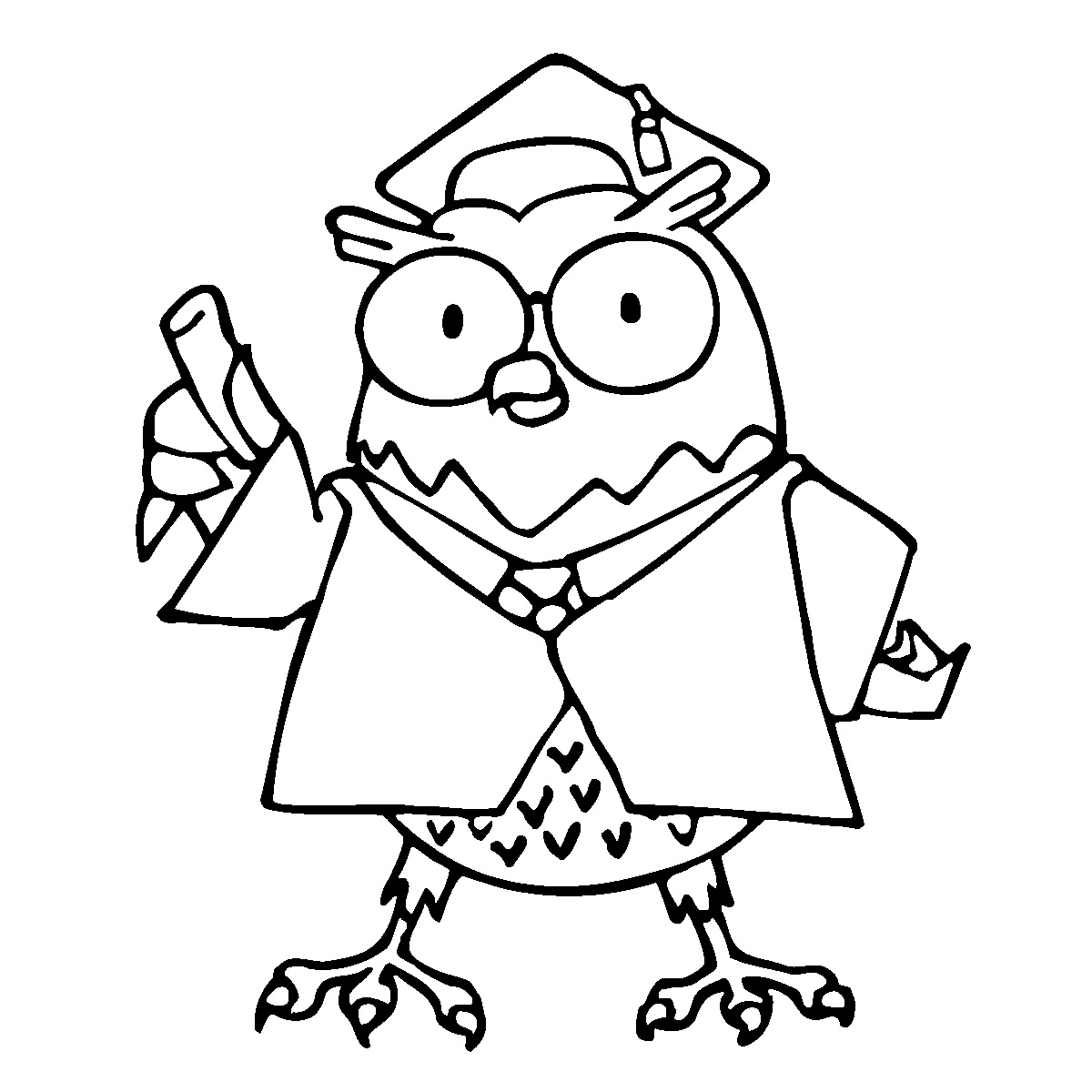 Cartoon Owl Coloring Pages.