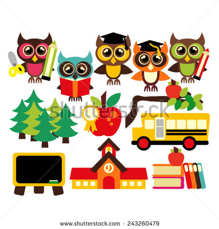 School Party Clip Art Stickman kids having a school@Share on back.