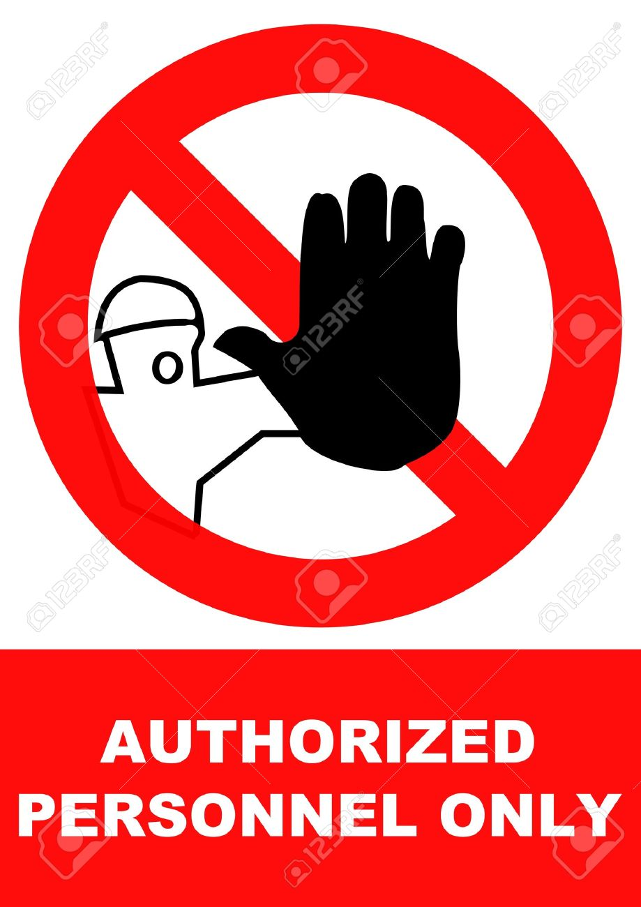 Authorized Personnel Only Clipart.